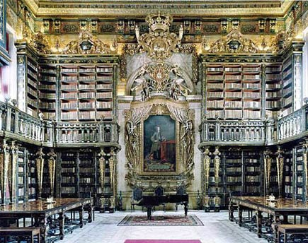 library in coimbra, purtugal