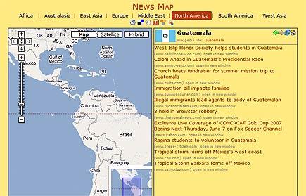 news map