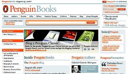 penguin uk website redesign