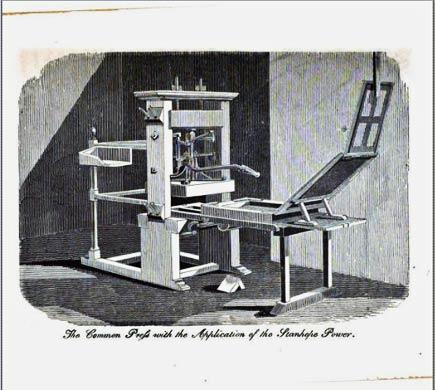 19th-century printing press