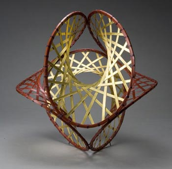 "bamboo basket, ""Inside Out,"" 2006, by Ueno Masao"