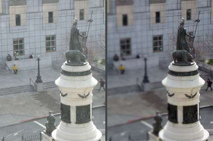 tilt shift before after