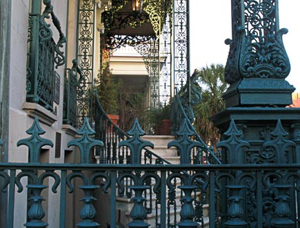 elaborate ironwork is an architectural feature seen in charleston, sc