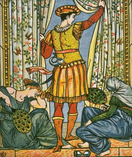 walter crane, the prince from sleeping beauty