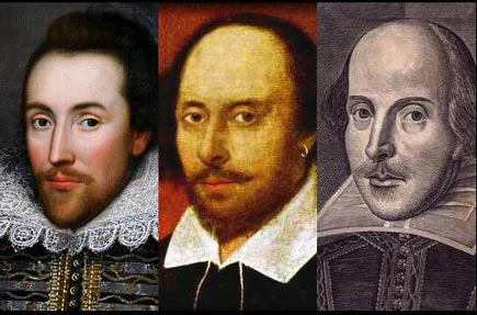 3 portraits of shakespeare