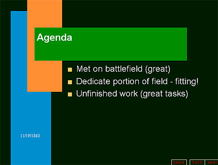 gettysburgh powerpoint slide