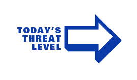 marker showing today's threat level