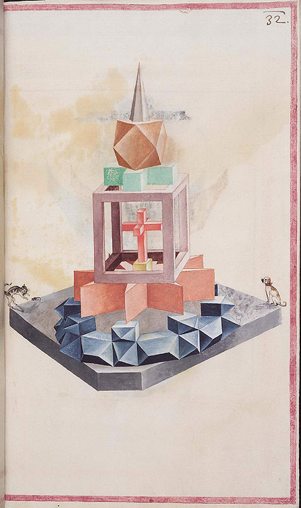 geometric solid from Codex Guelf 74. 1, via Bibliodyssey