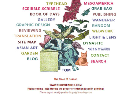 New (revived) rightreading.com home page