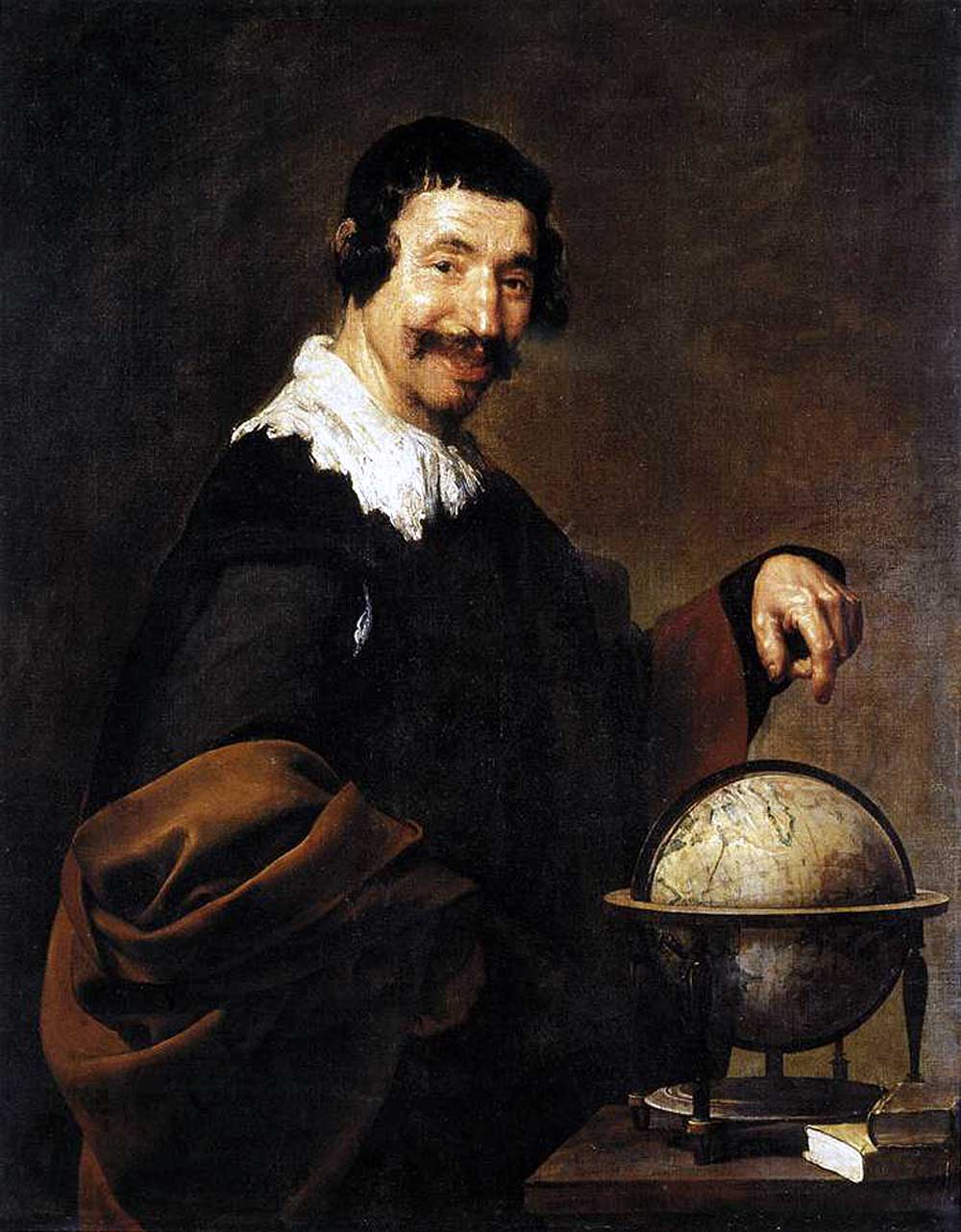 Democritus, ca. 1629, by Diego Velazquez (Spanish, 1599-1660). Oil on canvas, 101 x 81 cm. Musée Des Beaux-Arts, 822.1.16.