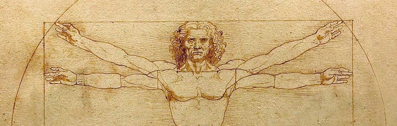 Vitruvian Man (detail), by Leonardo da Vinci.