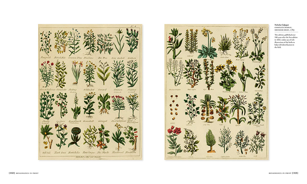Pages from Complete Herbal, 1789, by Nicholas Culpepper