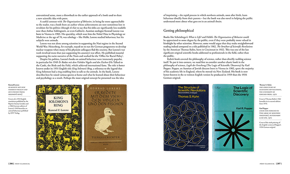 Covers of four books published 1949-1972