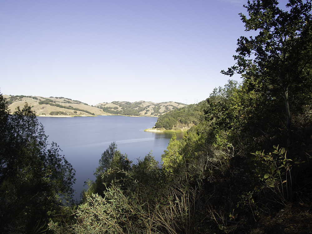Briones reservoir from Oursan trail -- original images