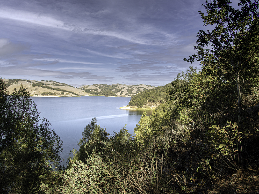 Revised image of Briones Reservoir viewed from Oursan Trail
