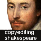 copyediting shakespeare