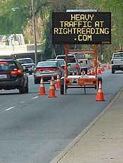 heavy traffic at rightreading.com