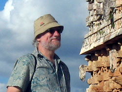 tom christensen at the Maya site of Kabah