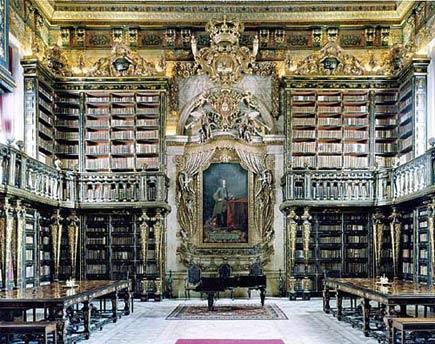 library in coimbra, purtugal