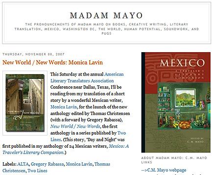the latin american translation blog of c.m.maya
