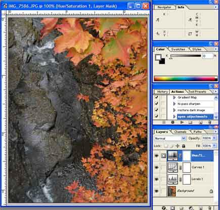 photoshop default actions