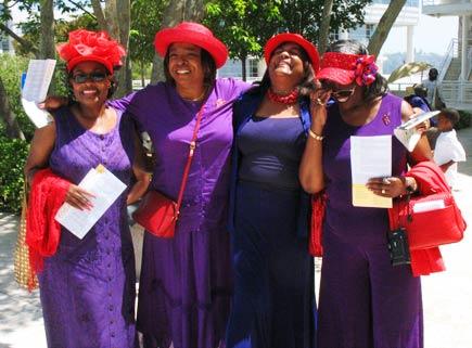 red hat society ladies