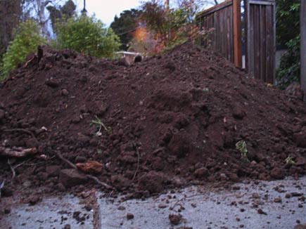 dirt for filling in a swimming pool
