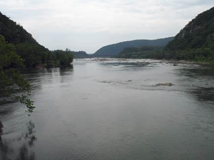shenandoah river near harper's ferry, west virginia