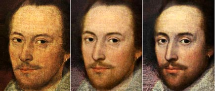 all three new Shakespeare portraits