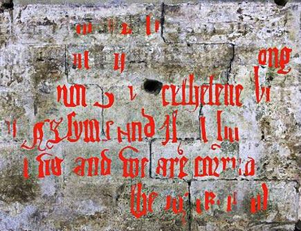 early english inscription