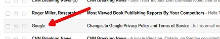 a google privacy e-mail appearing in my gmail spam folder