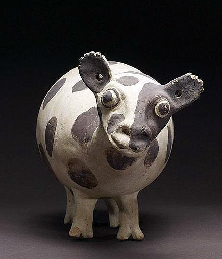 llama, chamay culture, earthenware, 1000-1470