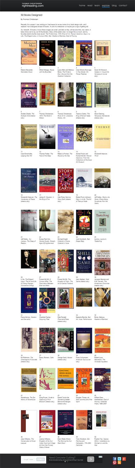 50 books designed by tom christensen