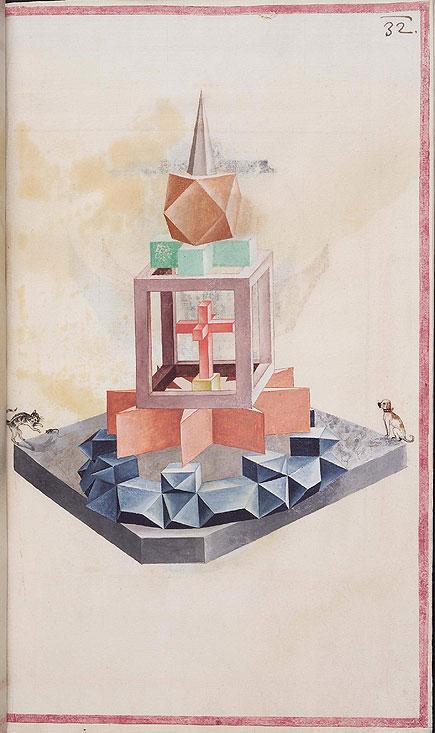 geometric solid from Codex Guelf 74. 1, via Bibliodyssey