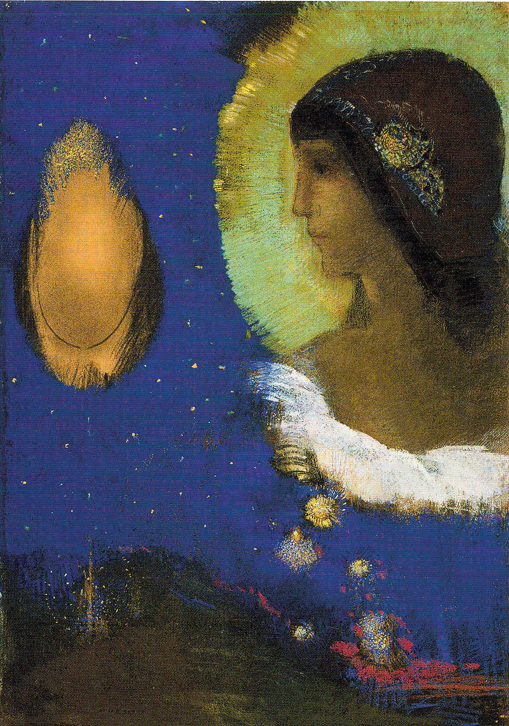 Sita, ca. 1893, by Odilon Redon (French, 1840–1916). Pastel, conté crayon, and charcoal on paper. The Art Institute of Chicago, Joseph Winterbotham Collection, 1954.320.