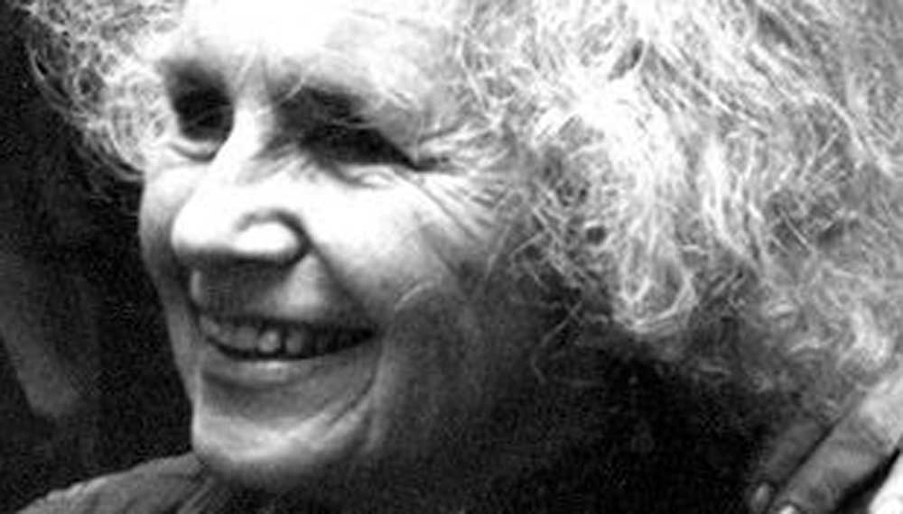 Grace Paley. Detail from a photo accompanying her interview in the Paris Review.