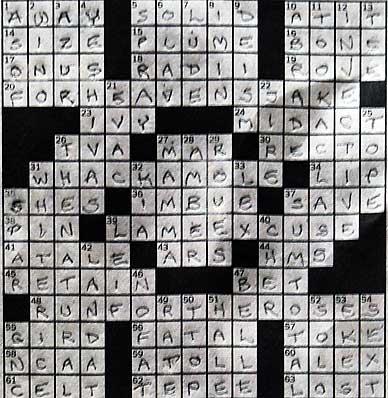 completed crossword