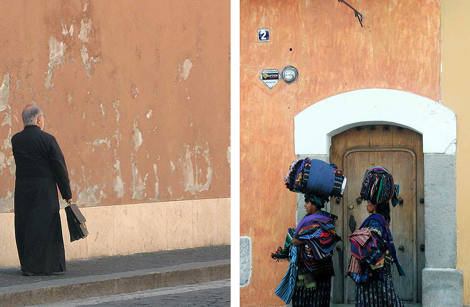 Left: Vatican City, 3 Oct. 2009. Right: Antigua, Guatemala, 4 Jan., 2002.