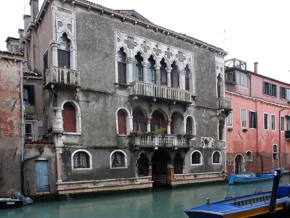 Palazzo Mastelli, the Fondamenta Madonna dell'Orto facade.