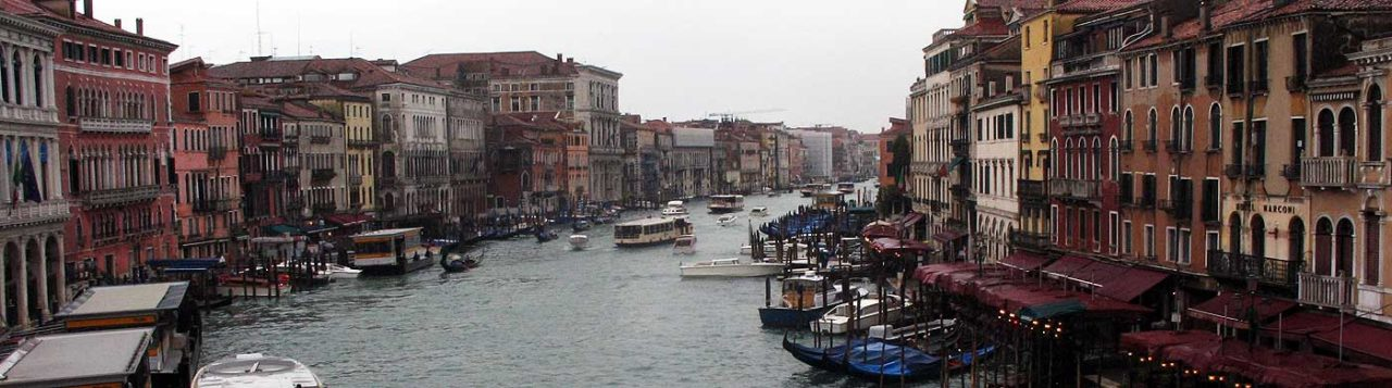 Grand Canal, Venice, looking south.