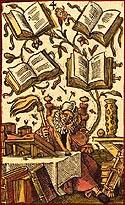 jost amman card of books