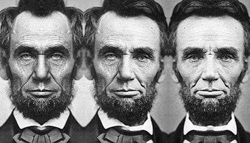 La asimetría del rostro de Lincoln.