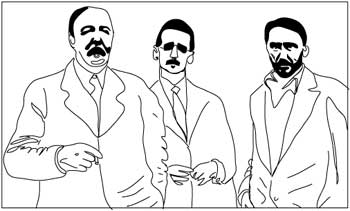 ford, joyce, and pound, drawing by tom christensen
